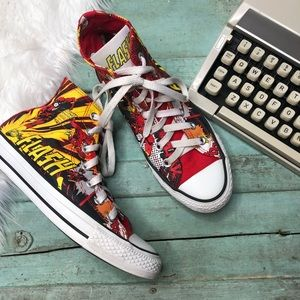 Rare CONVERSE Sneakers 7/5 FLASH DC Comic